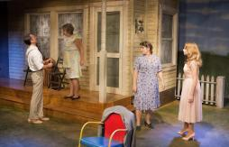 Joel Morrison as Howard, Dawn Trook as Flo, LDT as Rosemary, Becky Bjerke as Madge (Photo Credit: Eric Bjerke, Sr.)