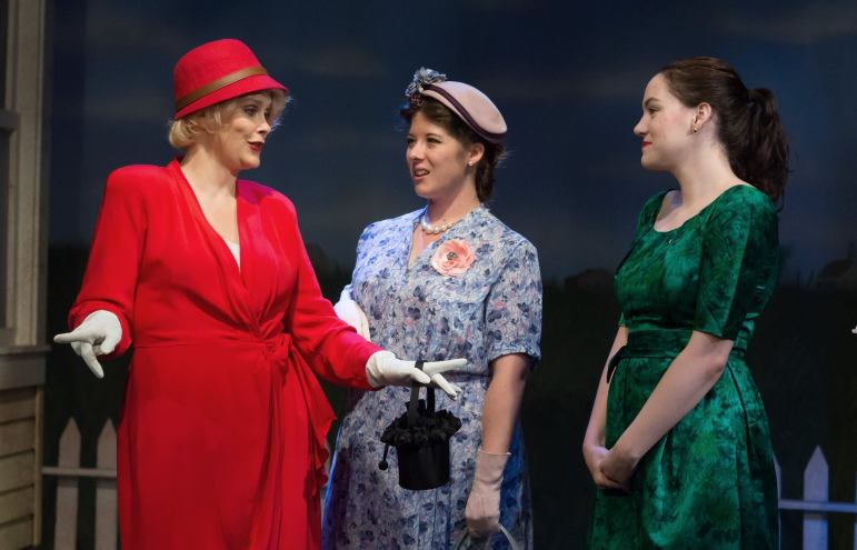 Lara Dirks as Irma, LDT as Rosemary, Amanda Marjory Graham as Christine (Photo Credit: Eric Bjerke, Sr.)